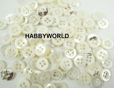 100 Pcs 9//10//11//12mm Resin Two Hole Round Buttons Craft Beading Scrapbooking