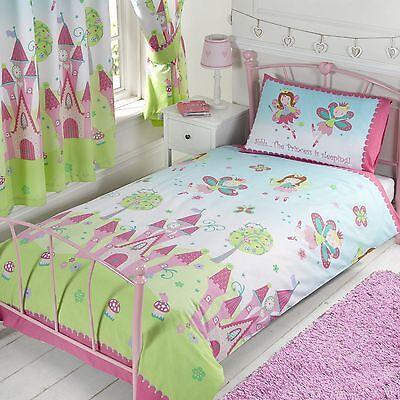 FAIRY PRINCESS 'SLEEPING' SINGLE DUVET COVER SET NEW GIRLS BEDROOM