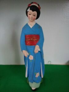 """Vintage UCAGCO Japanese Woman Lady Ceramic Pottery Made in Japan 10"""" Figurine"""