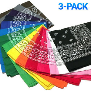 3-Pack-Bandana-100-Cotton-Paisley-Print-Double-Sided-Scarf-Head-Neck-Face-Mask