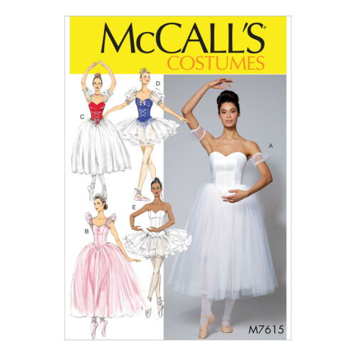 McCall/'s 7615 Sewing Pattern to MAKE Romantic Lyrical Ballet Tutu Stage Costumes