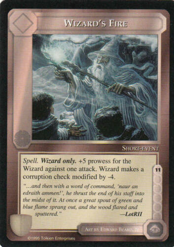 Edition Mint//N.Mint 1995 ME52 Wizard´s Fire Middle Earth The Wizards CCG bb Lim