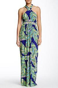 000eb1e9bab667 NWT- Trina Turk 'Tilly' Print Jersey Halter Maxi Dress, Multi - Size ...