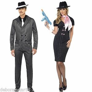 Mens-1920s-Gangster-Ladies-Gangster-039-s-Moll-Fancy-Dress-Costume-Suit-Smiffy-039-s