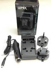 Lemix UK & EU Mains & Car Digital Camera Battery Charger for Canon NB9L NB-9L