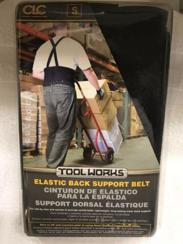 "Elastic // Size: Small Heavy Duty Black CLC Back Support Belt W 28-32/"" 5000S"