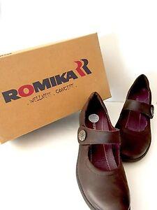 Romika Brown Heels New US 6 M \u003d EU 37