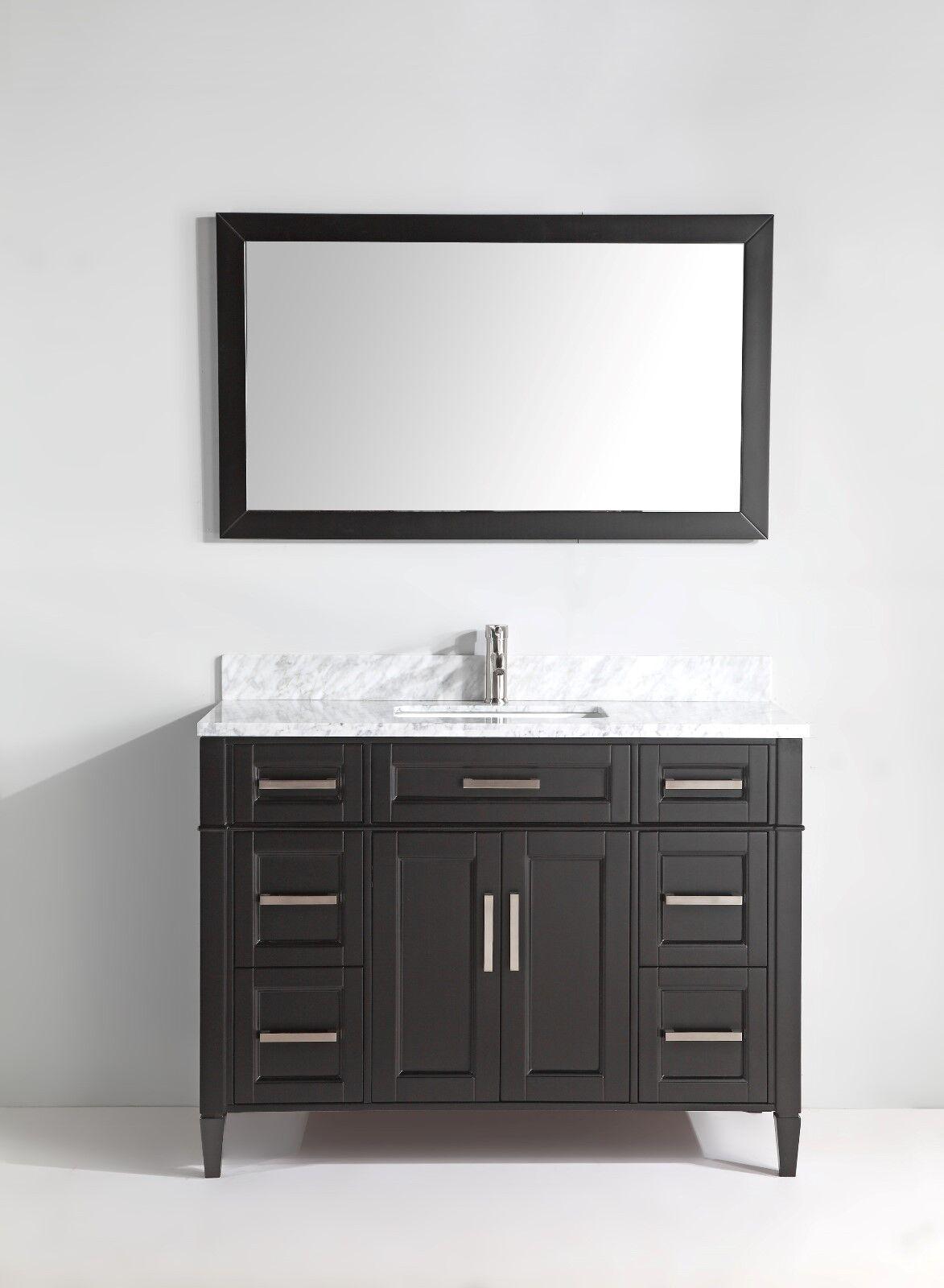 Vanity Art 60 Inch Single Sink Bathroom Vanity Set W Carrara Marble Top Va2060 For Sale Online