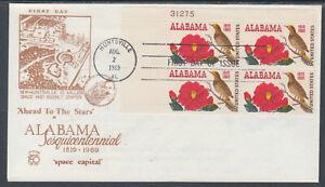 US-Planty-1375-13-FDC-1969-Alabama-Statehood-AL-Statehood-Comm-FIRST-CACHET