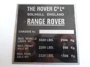 Plaque Bouclier Rangerover S20 Rover Gamme Njsx4mgj-07215820-321008837