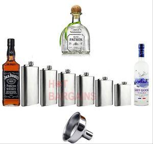 1 4 5 6 7 8 9 10 18 oz Hip Flask Stainless Steel Pocket Drink Whisky Flasks TOP