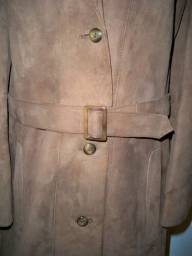Real 12 Vintage Day British Uk Made Modern Suede Coat Fits 4dxw0qBd