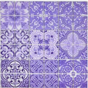 Retro-Vintage-mosaico-piastrella-traslucida-viola-vetro-ITALY-68-RETRO-I-B-1-Tappetino