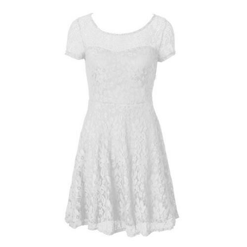 Womens Ladies Plus Size Lace Mini Evening Party Mesh Cocktail Bridesmaids Dress