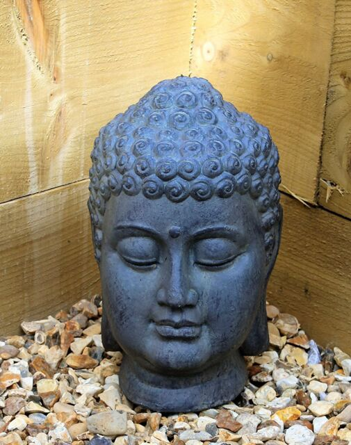 Well known Large Thai Buddha Head Sculpture Ornament Garden Home Figure  AD75
