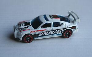 HOT-Wheels-Dodge-Charger-DRIFT-BIANCO-Pursuit-AUTO-CAR-POLIZIA-POLICE-HW-MATTEL