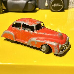 VINTAGE-Timpo-Toys-CHARBENS-Chad-Valley-Rosso-modello-auto-Clockwork-Motor