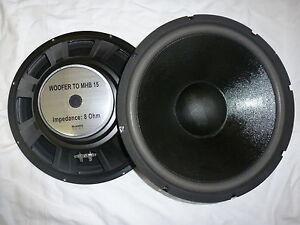 "1x MHB-15 38cm 15"" Bass Lautsprecher PA Hifi 380mm Tieftöner"