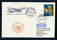 59353) LH A 380 FF Tokio Japan - Frankfurt 12.6.2010, card Karte