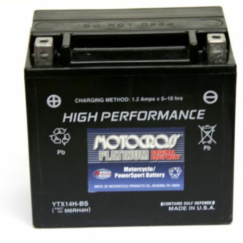 NEW YTX14-BS MAINTENANCE FREE BATTERY HIGH PERFORMANCE SEALED HONDA KAWASAKI