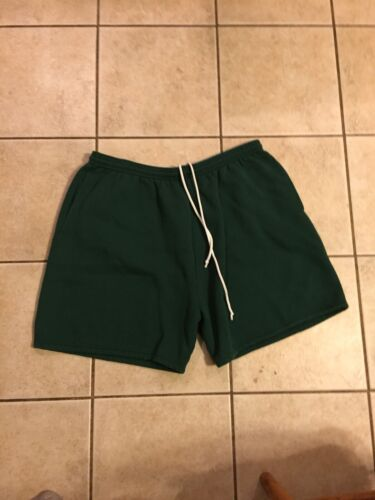 Vintage 1990s USA Olympic Pine Green Sweat Shorts