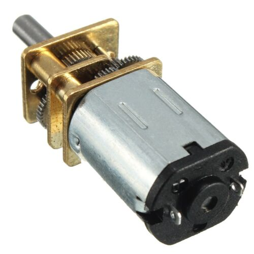 DC 6V 30RPM Micro Speed Reduction Gear Motor with Metal Gearbox Wheel Shaft