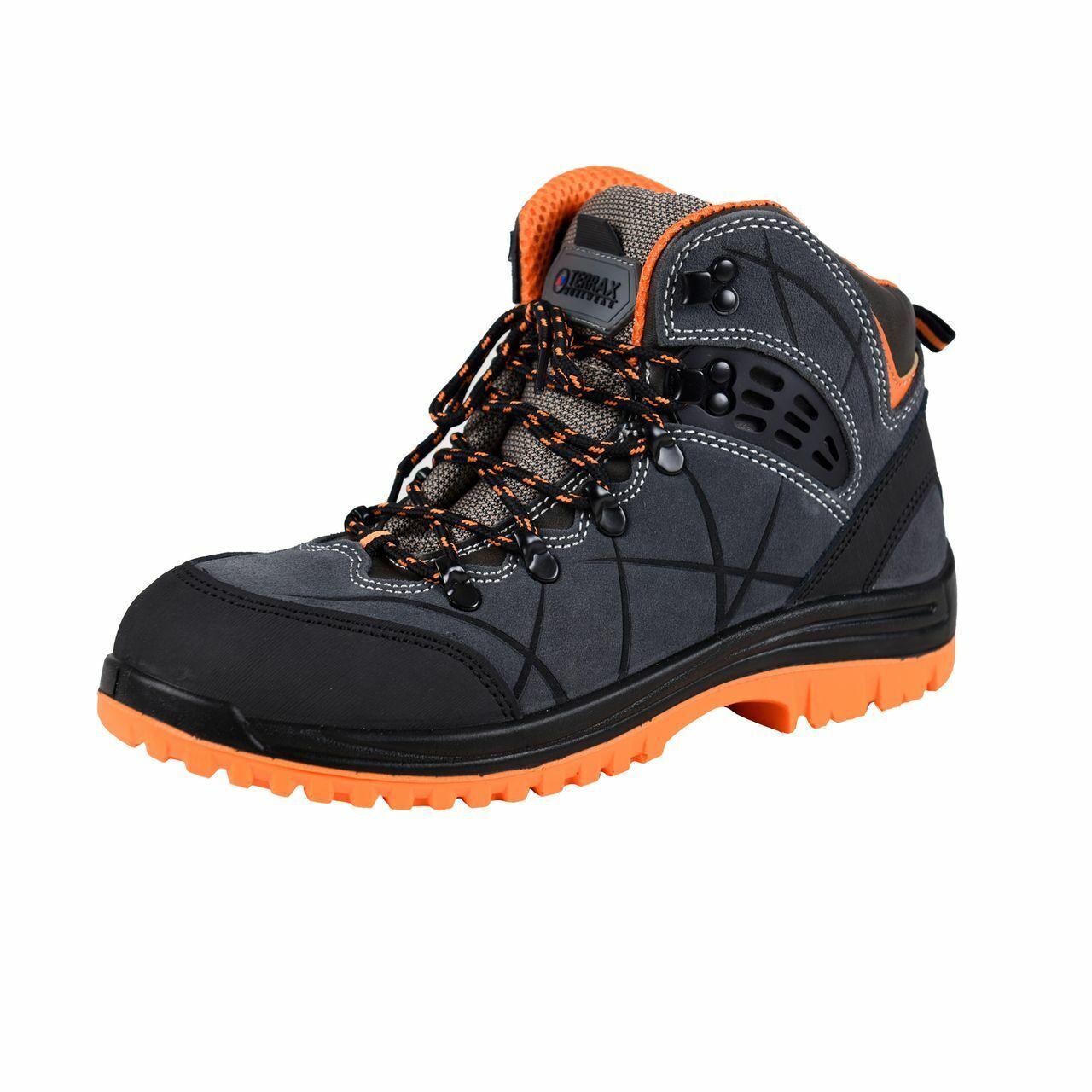 Terrax workwear sicherheitsstiefel s1p, grey orange