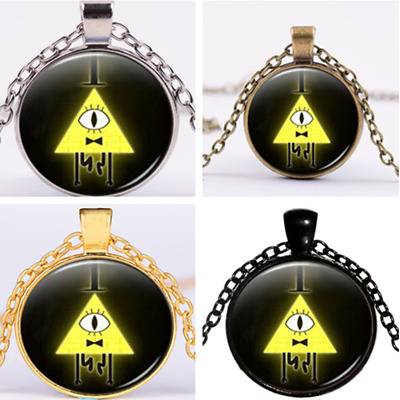 New Vintage Drama Gravity Falls Mysteries Bill Cipher Wheel Necklace Chain