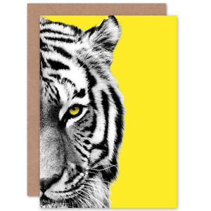 Close-Up-Beasties-Tiger-Blank-Greeting-Card-With-Envelope