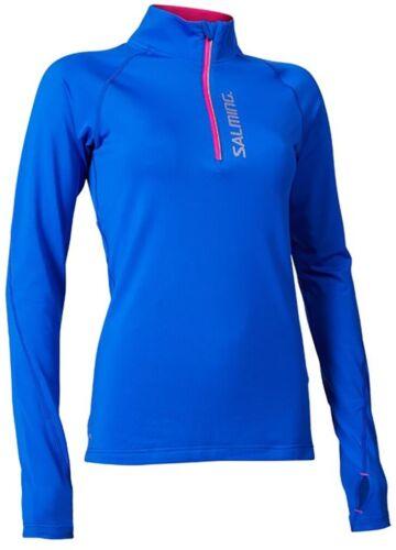 Blue Salming Half Zip Long Sleeve Womens Running Top