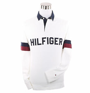 87bc9bc7 Tommy Hilfiger Men Long Sleeve Classic Fit Logo Polo Rugby - $0 Free ...
