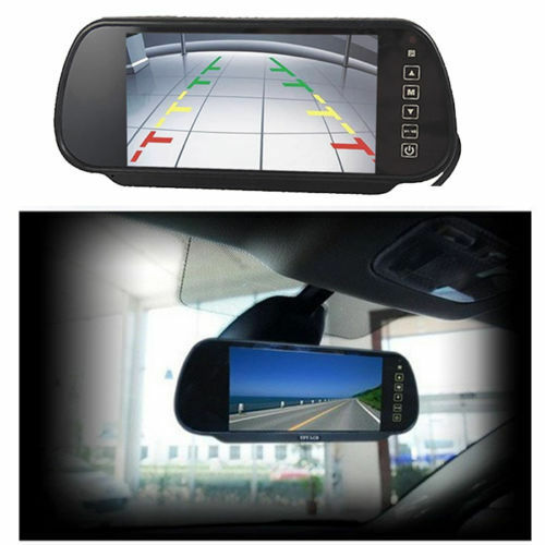 "7/"" LCD TFT Color Screen Auto Car Reverse Parking Rear View Backup Mirror Monitor"