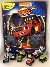 NICK JR BLAZE AND THE MONSTER MACHINES BUSY BOOK - 10 FIGURES AND A PLAYMAT