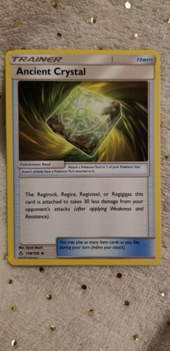Pokémon Ancient Crystal Tool Card #118/156 Ultra Prism Uncommon Mint New English