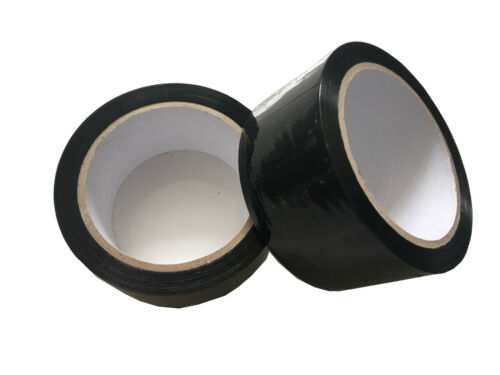 1 Roll Quality BLACK Coloured Parcel Packing Tape 48mm x 66m