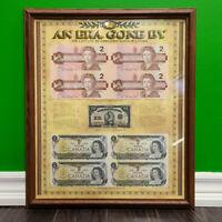 Framed Uncut Vintage Canadian Currency Mississauga / Peel Region Toronto (GTA) Preview