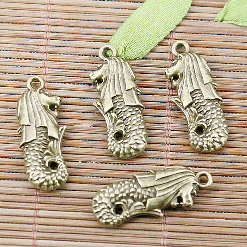6pcs antiqued bronze color cartoon dragon kind of sea charms EF2562