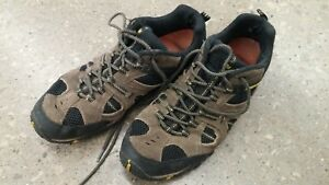 Merrell-Boulder-Empire-Yellow-Leather-Hiking-Shoes-Men-s-US-13-Lace-Up