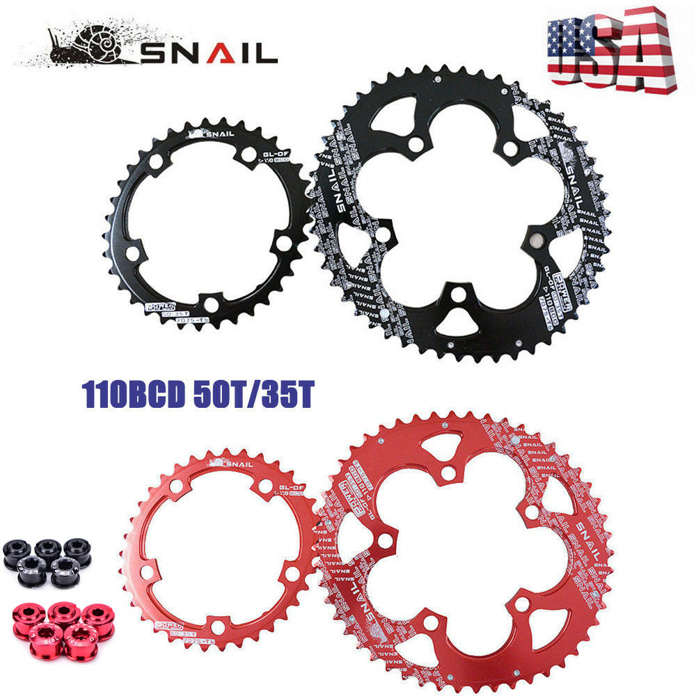 SNAIL 110BCD Road Bike 50T35T Double Oval Chainring Chainwheel fit SHIMANO SRAM