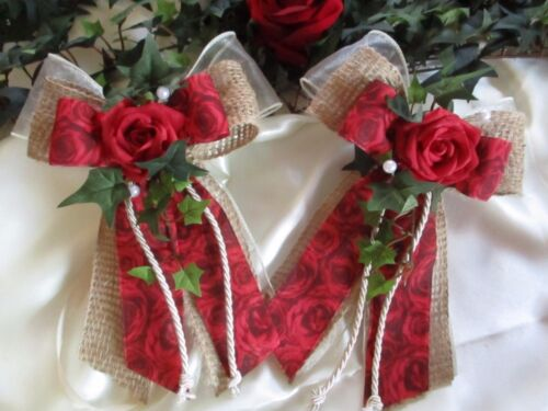 crema//bordeaux antenne loop look vintage 2 SPECCHIO loop Decorazione Matrimonio