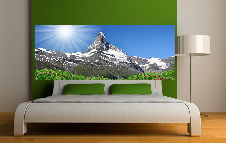 Adesivo testata del letto decorazione da muro Paesaggio montagna montagna montagna ref 3617 972c1e