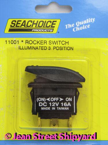 -Off-On 11001 Mom On Marine Boat Illuminated 3 position Lighted Rocker Switch