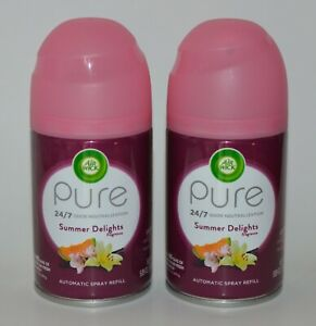 2-AIR-WICK-FRESHMATIC-AUTOMATIC-SPRAY-REFILL-PURE-SUMMER-DELIGHTS-FRESHENER