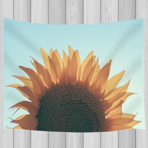 Tournesol en pleine floraison chambre chambre dortoir Wall Hanging Tapestry Blanket