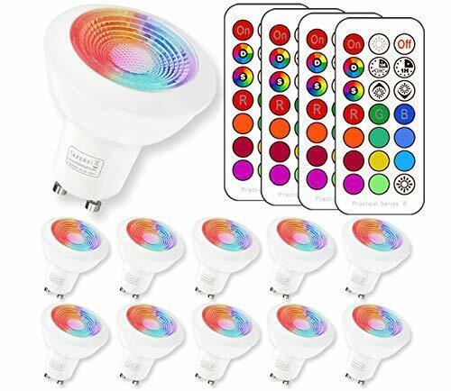 Gu10 led rgb Lampe mit Fernbedienung   Gu10 (10 Pack GU10 RGB+6000K)