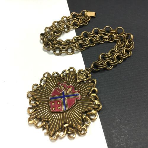 "Vintage REINAD Heraldic ""Coat Of Arms"" Shield Pend"
