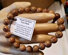 Phoenix Tail Wood Wrist Mala Prayer Bracelet - 10mm #41034