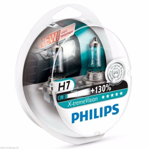 130/% Headlight Bulbs 12V55W xtreme extreme 2 Pack Philips H7 X-treme Vision