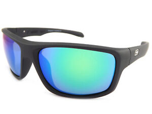 e2480955188 Dirty Dog Polarised Axle Sunglasses Satin Black   Green Mirror 53442 ...