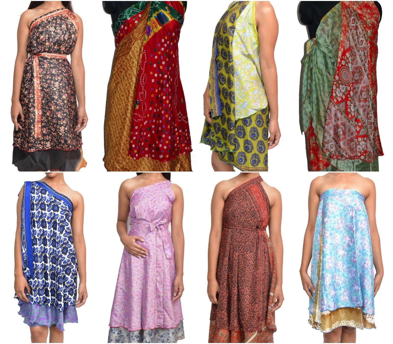 Wholesale 10 Skirts Sari Wrap Sari Sarong Large Reversible Promotion Sale 36